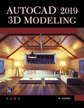 AutoCAD 2019 3D Modeling Book Cover