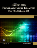 Microsoft Excel 2019 Programming by Example with VBA, XML, and ASP Book Cover