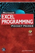 Microsoft Excel Programming Pocket Primer Book Cover