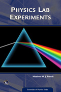 Physics Lab Experiments (Essentials of Physics Series) Book Cover